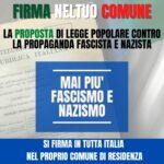 Al via la raccolta di firme per la Proposta di legge contro la propaganda fascista e nazista