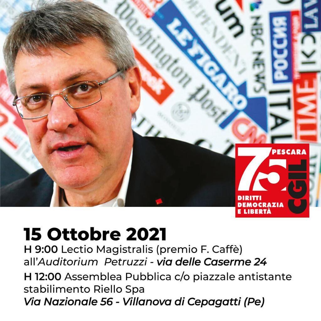 Maurizio Landini a Pescara tra gli studenti e le vertenze del territorio